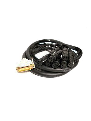 NoShorts DB25 Male to XLR-Female 8Ch Digital Snake Cable (25 FT)