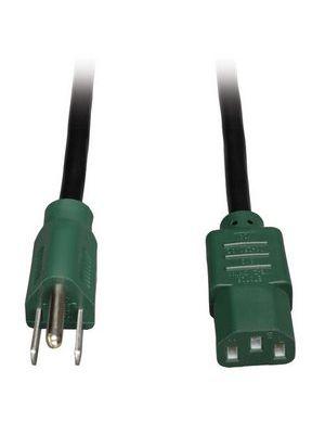 Tripp Lite P006-004-GN Universal Computer Power Cord w/ Green Ends (4FT)