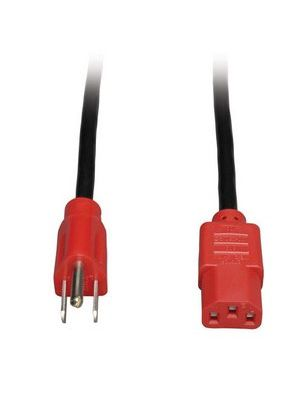 Tripp Lite P006-004-RD Universal Computer Power Cord w/ Red Ends (4FT)