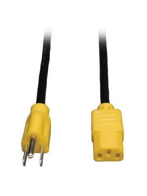 Tripp Lite P006-004-YW Universal Computer Power Cord w/ Yellow Ends (4FT)