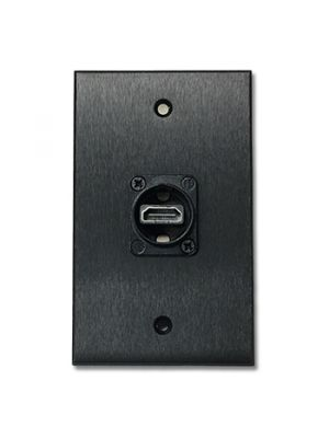 PacPro SG15HDMI Single Gang HDMI Wall Plate (Black)