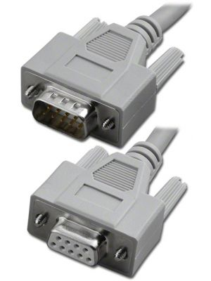 Pan Pacific S-9MF-9  9 Pin D-Sub RS-232 Serial Cable, Male to Female - 9 Feet