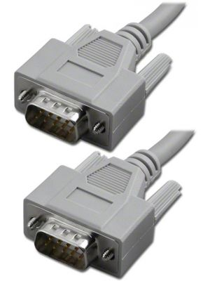 Pan Pacific S-9MM-10  9 Pin D-Sub RS-232 Serial Cable, Male to Male - 10 Feet