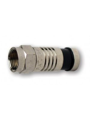 Platinum Tools 18006 F-Type RG6 Nickel SealSmart Coaxial Compression Connector