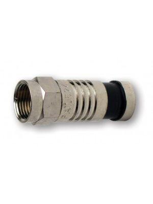 Platinum Tools 18012 F-Type RG59 Nickel SealSmart Coaxial Compression Connectors (pack of 10)