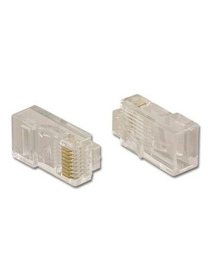 Pan Pacific PT-088R Round 2 Prong RJ45 Connector For Stranded Twisted Pair Cable