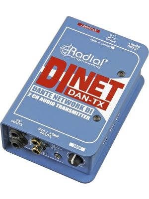 Radial Engineering DiNET DAN-TX 2-Channel Dante Network Transmitter