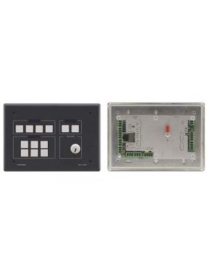 Kramer RC-74DL 12–button Ethernet and KNET Control Keypad with Knob and Displays (Black)