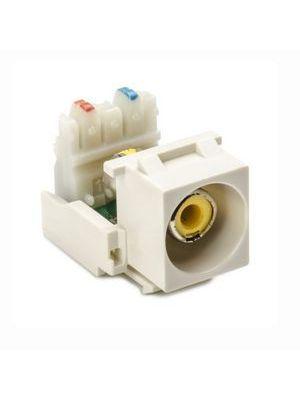 HellermannTyton RCAY110-FW RCA-110 Keystone Module With Yellow Stripe