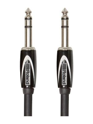 Roland RCC-10-TRTR Black Series 1/4-Inch Stereo Interconnect Cable (10 FT)