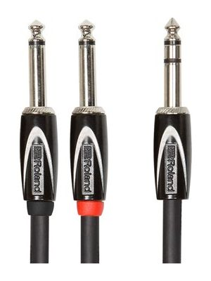 "Roland RCC-5-TR28 Black Series 1/4"" Stereo to Two 1/4"" Interconnect Cable (5 FT)"