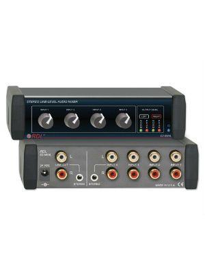 Radio Design Labs RU-MX4L Stereo Line-Level Audio Mixer