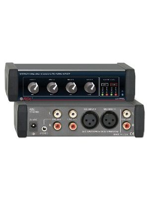 Radio Design Labs EZ-MX4ML Microphone and Stereo Line Mixer 4x1