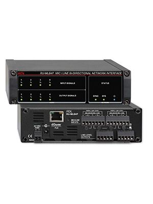 Radio Design Labs RU-MLB4P Mic/Line Bi-Directional Network Interface