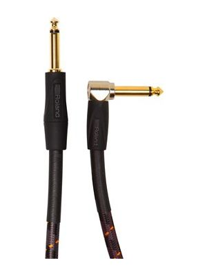 Roland RIC-G20A Gold Series Straight to Right-Angle 1/4-Inch Instrument Cable (20 FT)