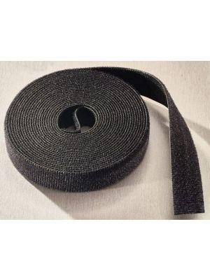 Rip-Tie W-75-1RL-BK WrapStrap 1/2 Inch Wide X 75 FT Roll (Black)