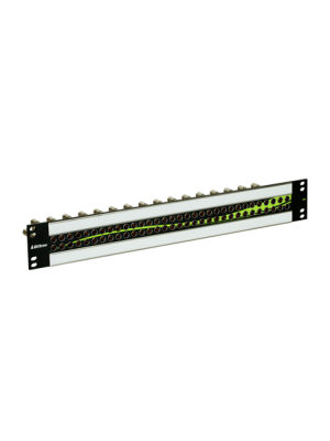 Bittree S64H-1MWNBK 12G+ Mini-WECO (Midsize) Stylized Video Patchbay with 2x32 Jack Configuration (1.5 RU)
