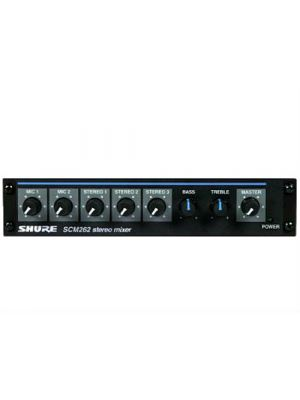 Shure SCM-262 Stereo Microphone Mixer with 2 Mic and 3 Stereo Inputs