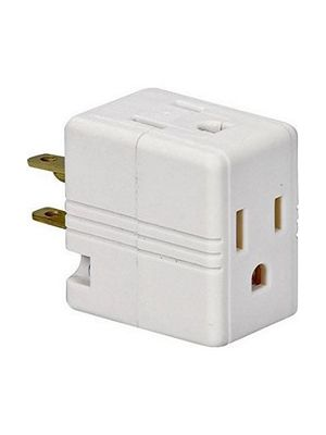Spring Action 1482V Triple AC Cube Tap Adapter