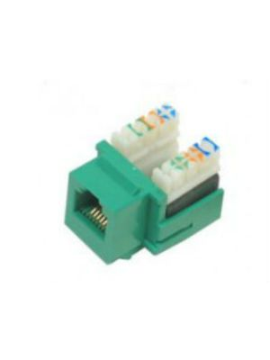Tri-Net Technology 07F-188-GN Cat 5e Keystone Jack (Green)