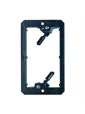 Vanco LV1  PVC Low Voltage Mounting Brackets (Single Gang) -  Black