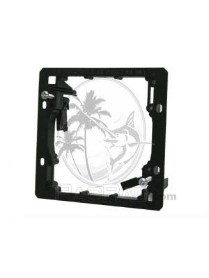 Vanco LV2 PVC Low Voltage Mounting Brackets (Dual Gang) - Black