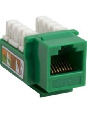 Vanco 820819 Cat6 90 Degree Keystone Insert (Green)