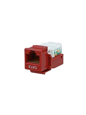 Vanco 820818 Cat6 90 Degree Keystone Insert (Red)