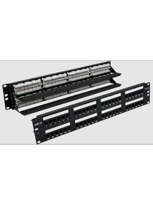 Wavenet 6EPP48-S 48-Port 2U Category 6 110-Type Patch Panel