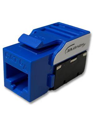 Wavenet 6AKSJBL-S CAT6A UTP 110-TYPE RJ-45 Keystone Jack (Blue)