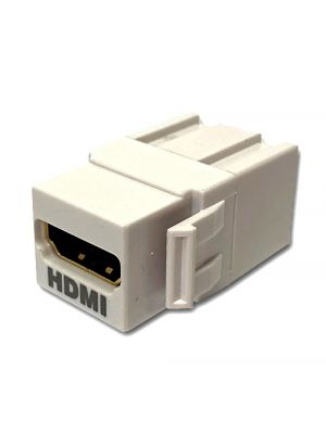 Wavenet WHDMI-WH-E HDMI Keystone Style Feedthrough Coupler (White)