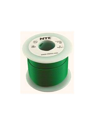 NTE Electronics WH26-05-100 26AWG Stranded Green Hook-Up Wire (100FT)