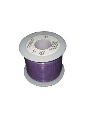 NTE Electronics WH26-07-100 26AWG Stranded Violet Hook-Up Wire (100FT)