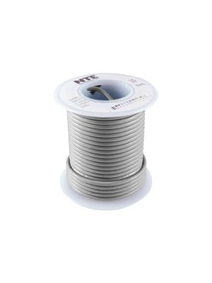 NTE Electronics WH24-08-100 24AWG Stranded Gray Hook-Up Wire (100FT)