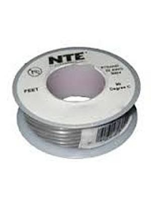 NTE Electronics WH24-08-25 24AWG Stranded Gray Hook-Up Wire (25FT)