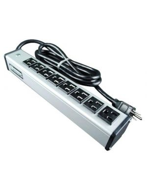 Wiremold by Legrand UL205BD 8 Outlet Metal Power Strip