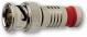 Platinum Tools 18035 BNC-Type Nickel SealSmart Coaxial RG6 Quad Connector (25 Pack)