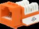 Wavenet 6EKSJOR-S CAT6 Keystone Jack Insert 90 Degree (Orange)