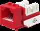 Wavenet 6EKSJRD-S CAT6 Keystone Jack Insert 90 Degree (Red)
