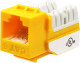 Wavenet 6EKSJYL-S CAT6 Keystone Jack Insert 90 Degree (Yellow)