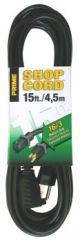 Prime Wire EC502615 15 Foot Indoor and Outdoor Extension Cord - Black