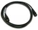 NoShorts 1855ABNC3BLK HD-SDI Mini Coax BNC Cable (3 FT - Black)