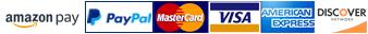 Accepting Amazon Pay, PayPal, Visa, MasterCard, American Express & Discover