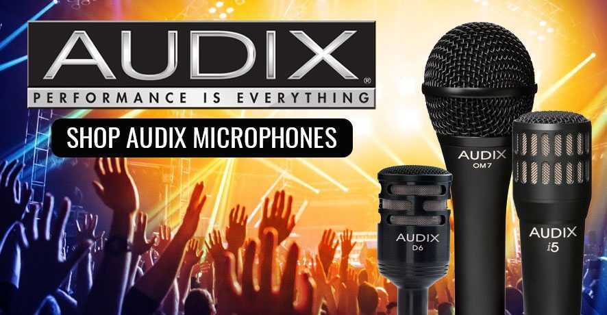 Shop Audix Microphones at Pacific Radio