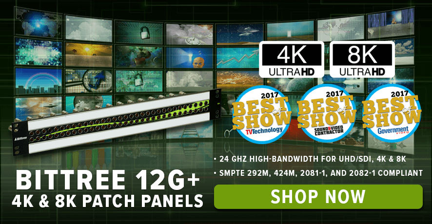Bittree 4K & 8K Patch Panels at Pacific Radio Electronics