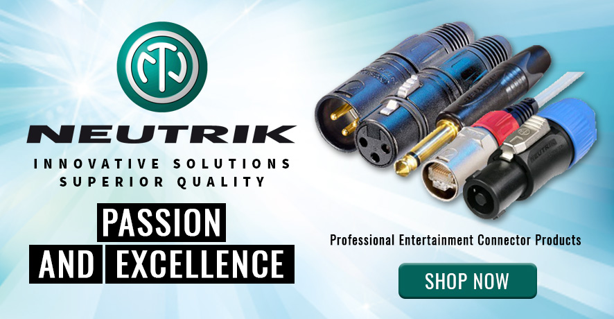 Neutrik Professional Entertainment Connector Products at Pacific Radio Electronics