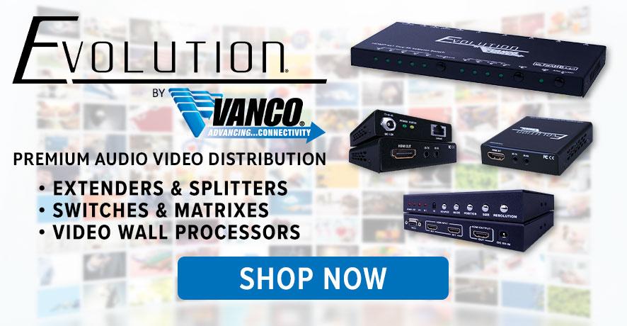 Vanco Premium AV Distribution Services at Pacific Radio Electronics